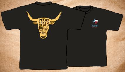 Texas Tony's Vintage T-Shirt – Dark Grey