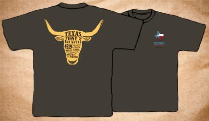 Texas Tony's Vintage T-Shirt – Light Grey