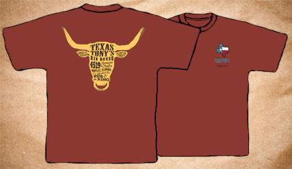 Texas Tony's Vintage T-Shirt – Red